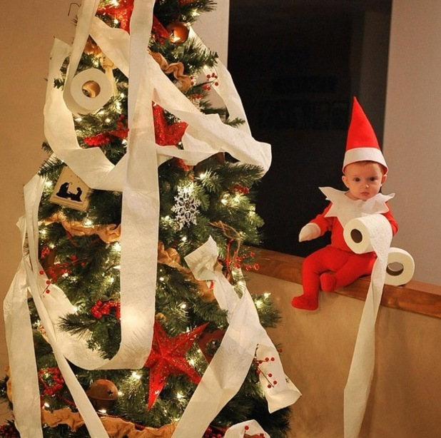 Elf on the Shelf caught red handed