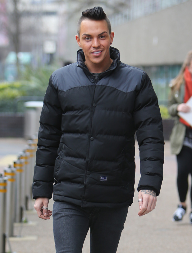 TOWIE's Bobby Norris outside ITV Studios - 14 December 2015.