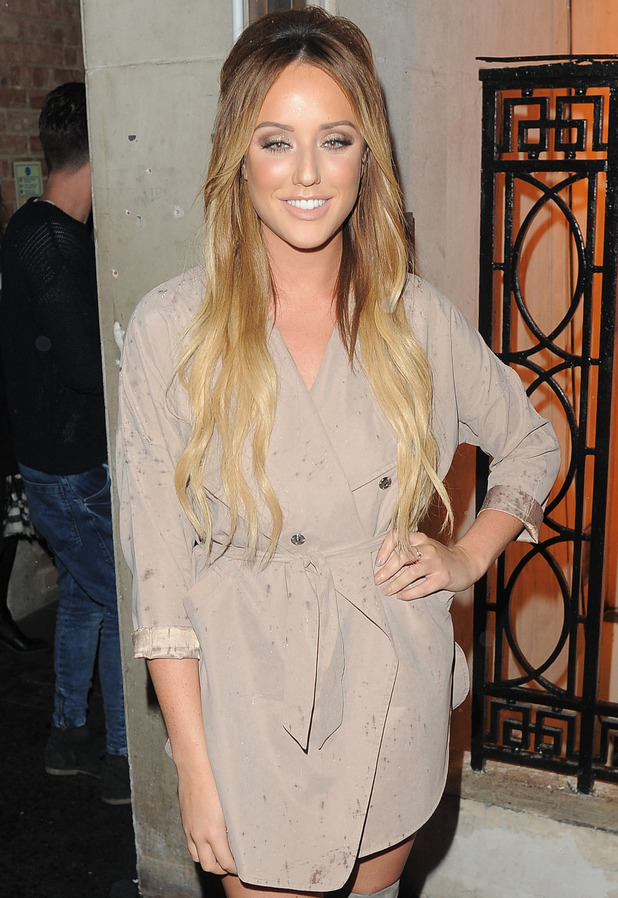 Charlotte Crosby attends In The Style - Billie Faiers launch party at TAPE London 10 December