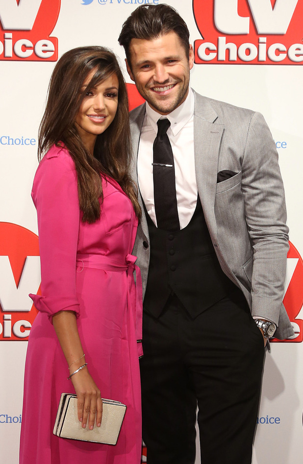 Michelle Keegan and Mark Wright at The 2015 TV Choice Awards held at the Hilton Park Lane - 7 September 2015.
