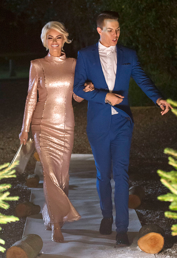 'The Only Way is Essex' cast filming, Suffolk, Britain - 28 Nov 2015 Vas J Morgan, Chloe Sims and Bobby Cole Norris