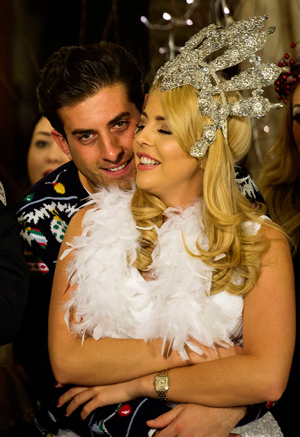 The Only Way is Essex' cast filming, Suffolk, Britain - 28 Nov 2015 James Argent and Lydia Bright arrive.