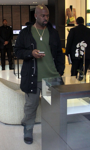 Corey Gamble christmas shopping at Chanel - Los Angeles. 22 December 2015.