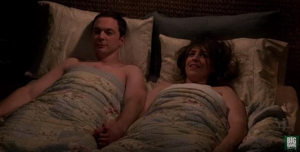 Sheldon Cooper and Amy finally sleep together on The Big Bang Theory 20 December