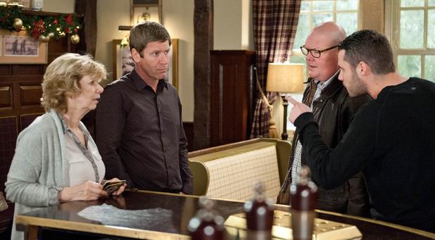 Emmerdale, Aaron tells Gordon to go, Tue 22 Dec