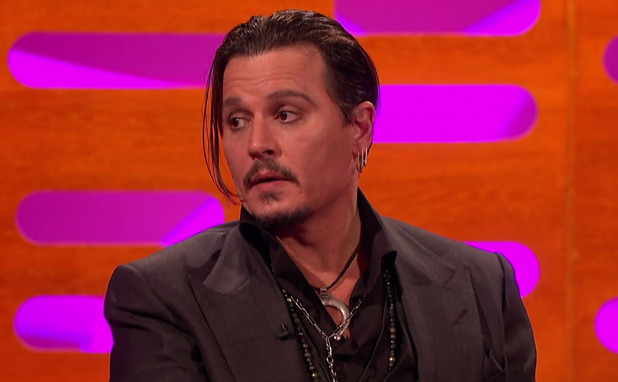 Johnny Depp promoting his new film 'Black Mass' on 'The Graham Norton Show.' Broadcast on BBC1 HD. 27 November 2015.