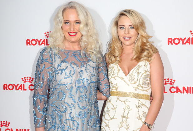 Lydia and Debbie on the red carpet at the Guide Dogs Annual Awards 2015 - 9 December 2015.