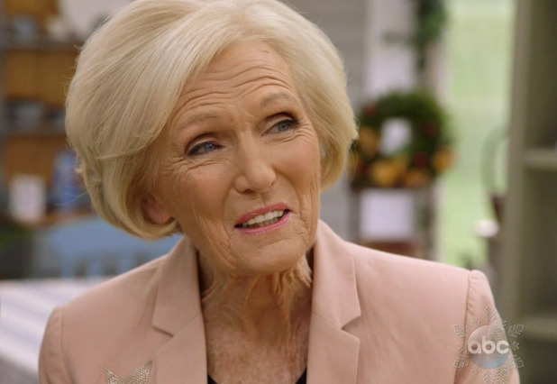 Mary Berry in the final episode of ABC's 'The Great Holiday Baking Show'. 22 December 2015.