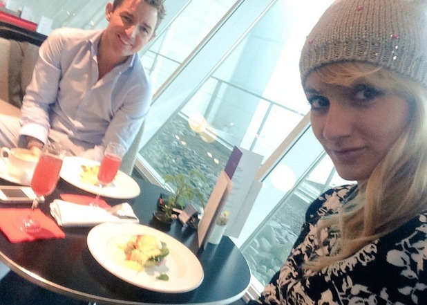 Aliona Vilani and her husband Vincent Kavanagh at the airport 21 December