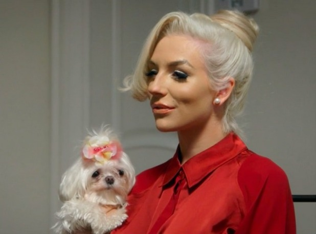 Courtney Stodden and her dog Cupcake star on ITV2's Pampered Pooches: Hollywood. 23 December 2015.
