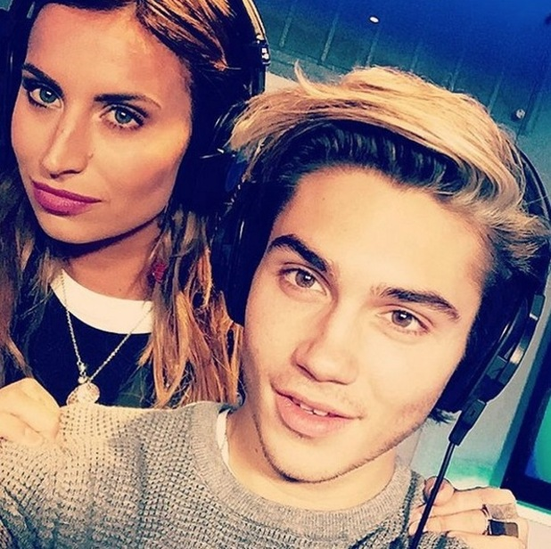 I'm A Celebrity stars Ferne McCann and George Shelley selife. 17 December 2015.