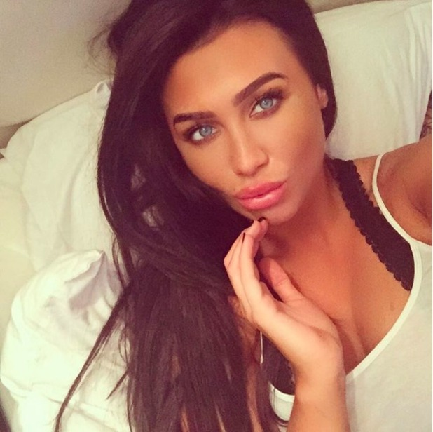 Lauren Goodger shares sultry selfie on Boxing Day 2015.
