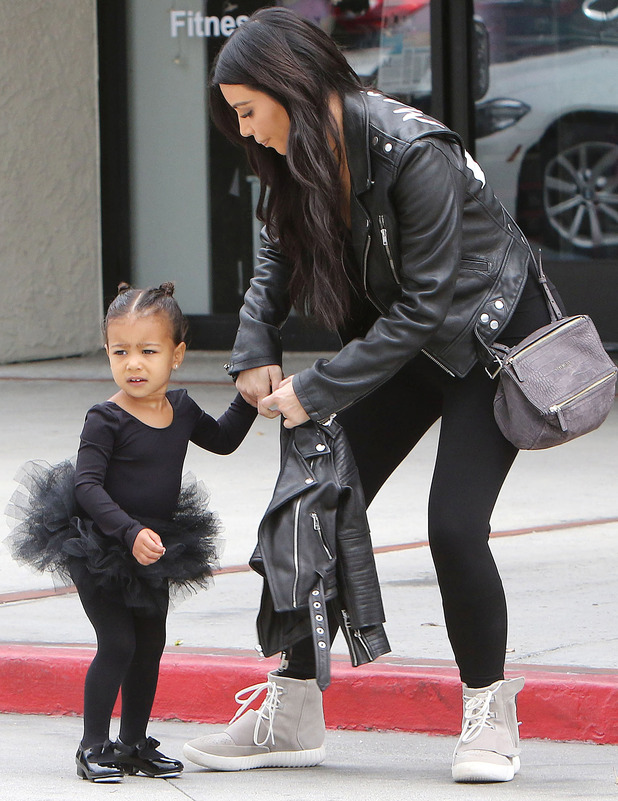 North West wears black tutu to ballet lessons in Los Angeles, 21st December 2015