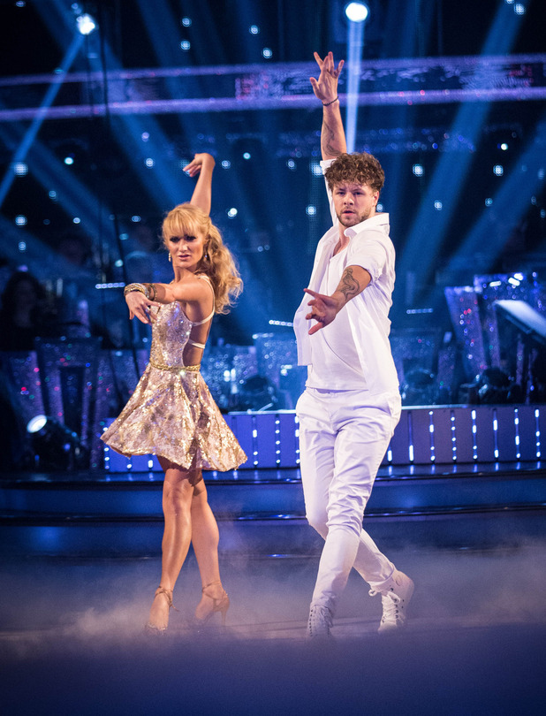 Aliona Vilani, Jay McGuiness' Showdance on Strictly Come Dancing 2015. 19 December 2015.