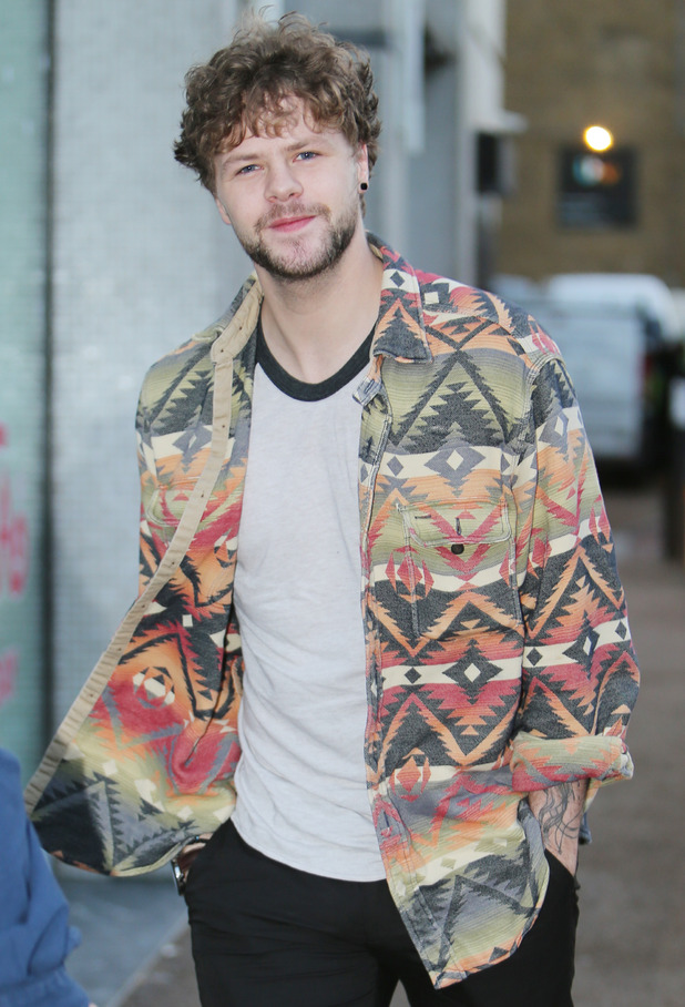 Jay McGuiness outside the ITV studios - 21 December 2015.