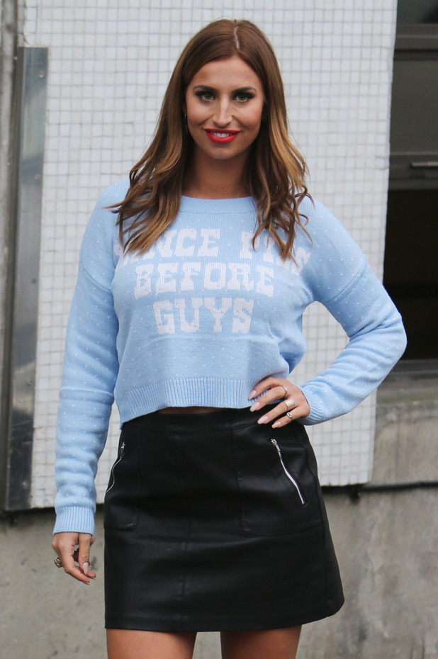 Ferne McCann outside ITV Studios - 18 December 2015.