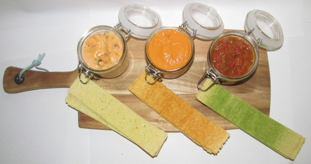 Chip Strips' homemade Pumpkin Spice Salsa recipe.