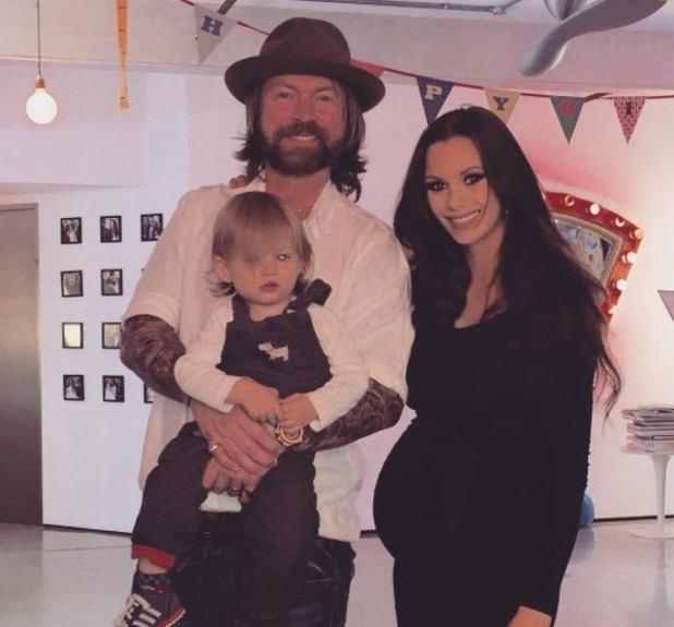Jessica-Jane Clement, husband Lee Stafford and baby Angel - 2015