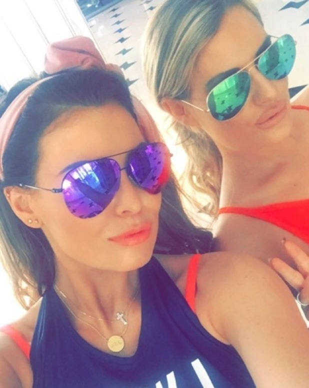 Danielle Armstrong and Jessica Wright soak up the sun in Miami - 31 Dec 2015