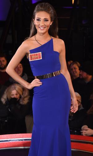 Ex On The Beach star Megan McKenna enters the 'Celebrity Big Brother' house, wearing cobalt blue dress, Elstree Studios, Hertfordshire, Britain - 05 Jan 2016