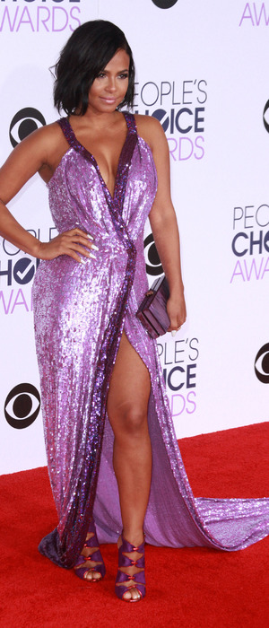 Christina Milian attends The People's Choice Awards at the Microsoft Centre in Los Angeles, 7th January 2016