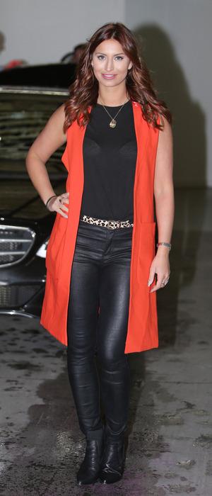 TOWIE star Ferne McCann spotted leaving ITV Studios in London, 7th January 2016