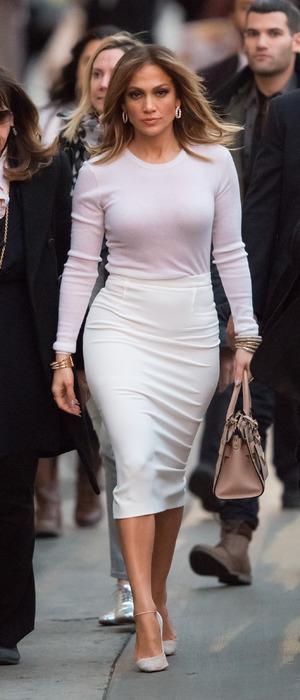 Jennifer Lopez arrives at Jimmy Kimmel Live! HQ in New York, America, 4th January 2015