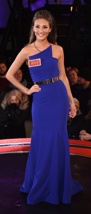 Ex On The Beach star Megan McKenna enters the 'Celebrity Big Brother' house, wearing cobalt blue dress, Elstree Studios, Hertfordshire, Britain - 05 Jan 2016