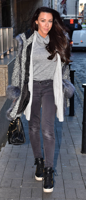 Michelle Heaton photographed at Today FM's Anton Savage Show in Dublin, Ireland, 7th January 2016