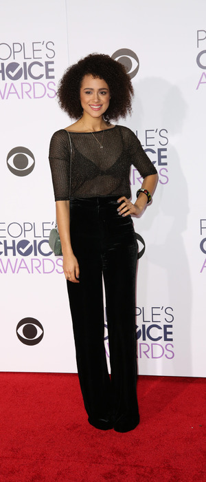 Nathalie Emmanuel attends the People's Choice Awards in L.A, 7th January 2016