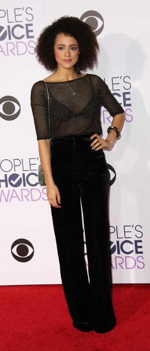 Game of Thrones actress Nathalie Emmanuel attends the People's Choice Awards in L.A, 7th January 2016