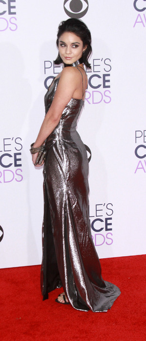 Vanessa Hudgens in metallic dress the red carpet at the People's Choice Awards, held at the Microsoft Centre, L.A, 7th January 2016