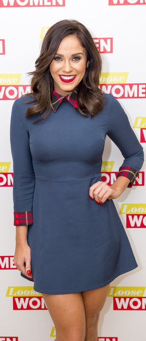 Vicky Pattison wears dress from own collection for Loose Women debut, London, 6th January 2016