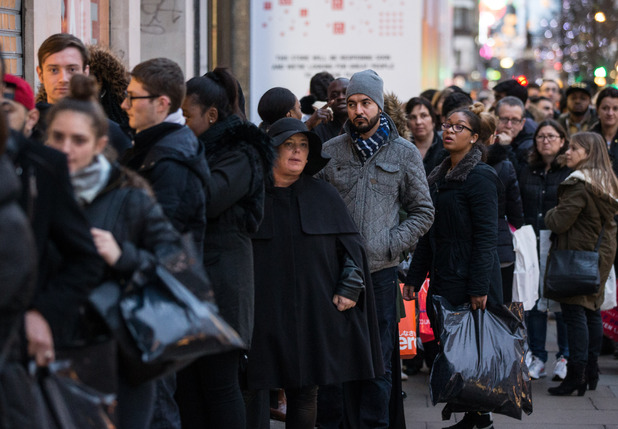 British people love to queue