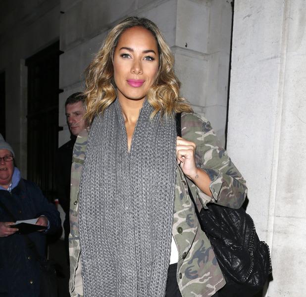 Leona Lewis seen outside BBC Radio 2 wearing pink lipstick, 8th January 2016