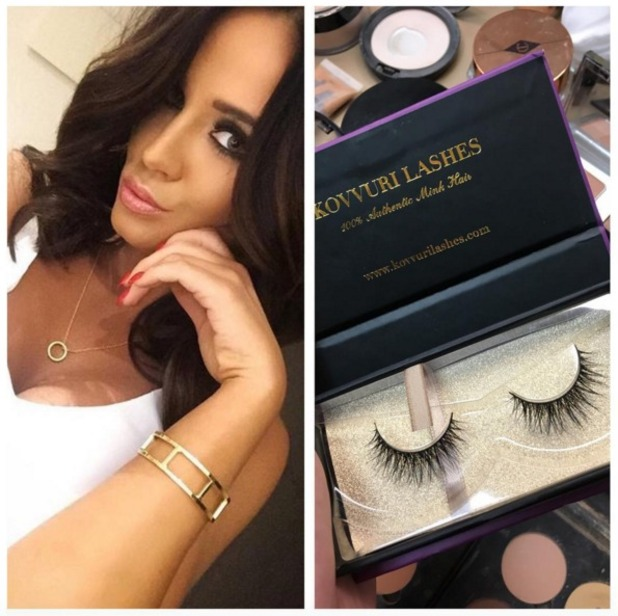 Vicky Pattison, glammed up by make-up artist Mikey Phillips, talks about using Kovurri Lashes for Loose Women debut, 4 January 2015