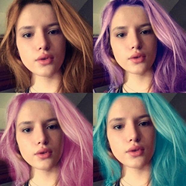 Bella Thorne teases new hair colour in Instagram selfie, 8th January 2016