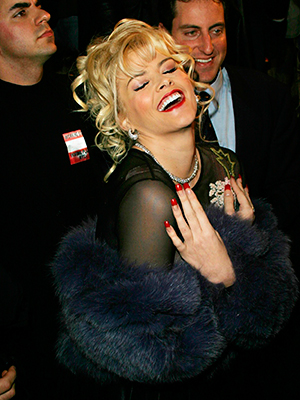 Anna Nicole Smith at the Betsey Johnson show, part of the Olympus Fashion week New York - 09.02.04