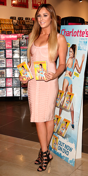 Charlotte Crosby signs copies of new fitness DVD 'Charlotte's 3 Minute Bum Blitz' at HMV Westfield, London