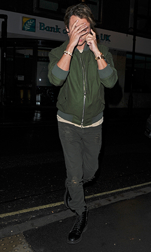 Jonathan Cheban seen arriving and leaving Roka Restaurant in central London with his girlfriend Anat Popovsky 4 Jan 2015