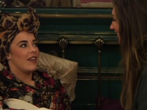 CBB: Megan McKenna talks to Stephanie about Scotty T romance. 12 January 2016.