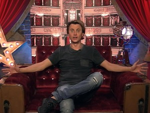 Jonathan Cheban in the Diary Room in the Celebrity Big Brother house. 11 January 2016.
