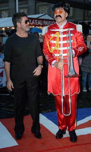 Simon Cowell and David Walliams at Britain's Got Talent auditions in Liverpool 15 January