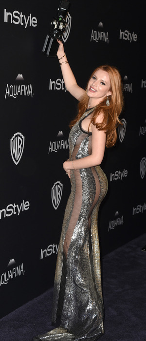 The Duff actress Bella Thorne attends the InStyle and Warner Bros Golden Globes Awards in Los Angeles, 11th January 2016