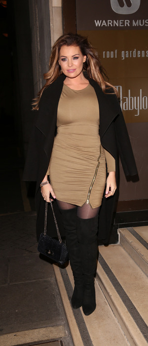The Only Way Is Essex's Jess Wright at Britain's Next Top Model Launch Party in London, 15th January 2016