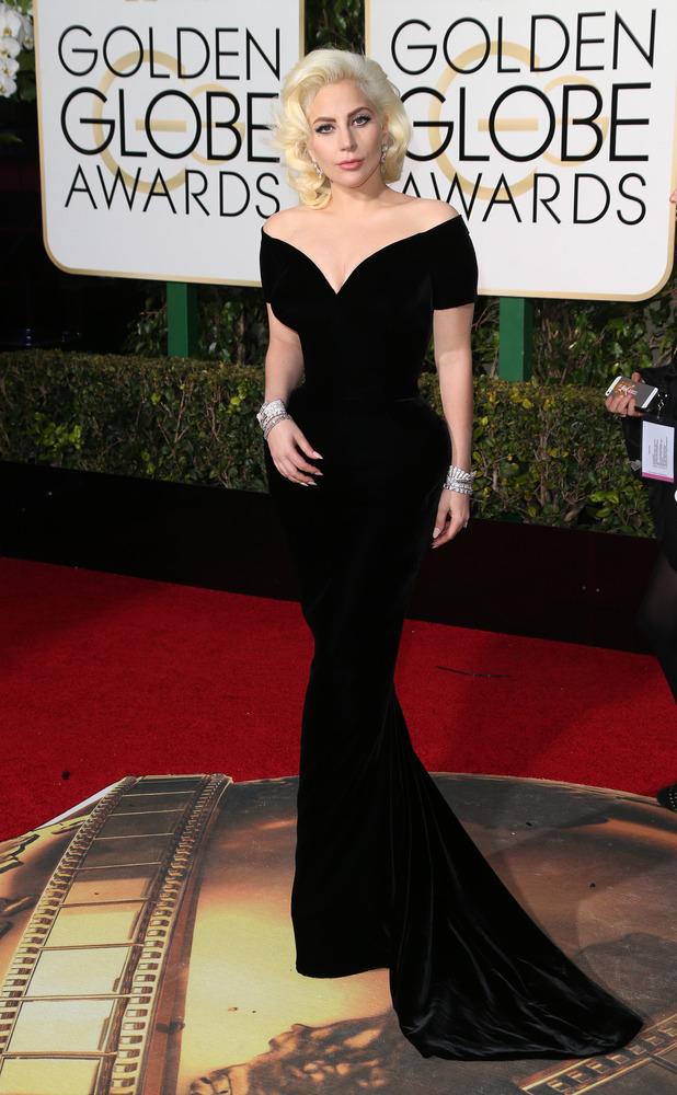 Lady Gaga, 73rd Annual Golden Globe Awards, Arrivals, Los Angeles, America - 10 Jan 2016