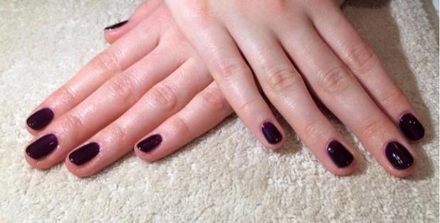 Brooke Vincent Blog: Burgundy nails 12 January