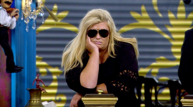 CBB: Gemma Collins during the puppet master task. 14 January 2016.