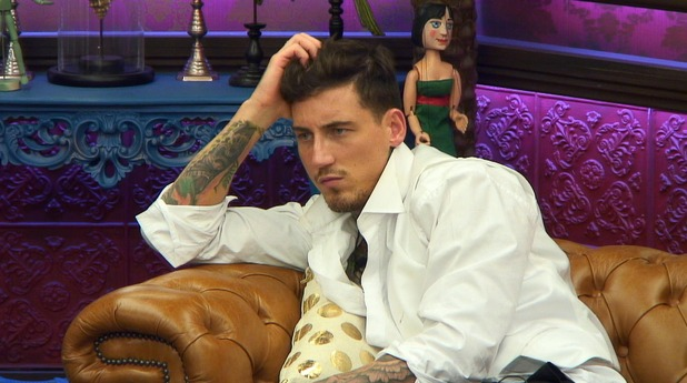 CBB: Jeremy McConnell during the puppet task. 14 January 2016.