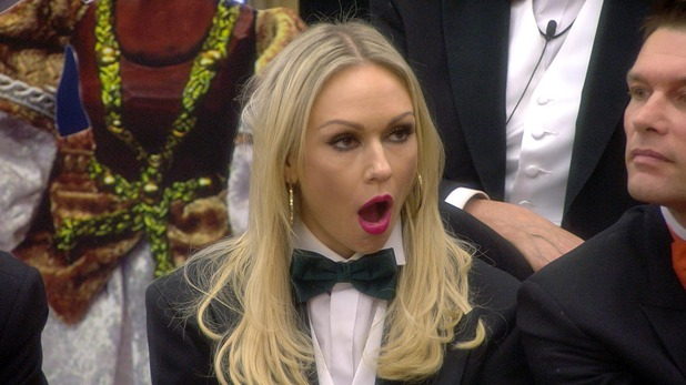 CBB: Kristina Rihanoff during the puppet master task. 14 January 2016.
